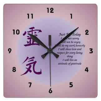 Símbolo de Reiki apenas para el hoy inspirado Reloj Cuadrado