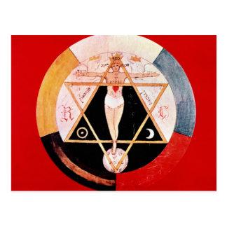 Símbolo de Rosicrucian de la orden hermética Tarjeta Postal