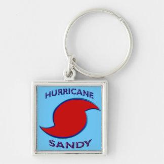 Símbolo de Sandy del huracán Llaveros Personalizados