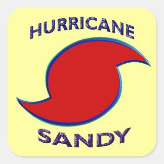 Símbolo de Sandy del huracán Pegatina Cuadrada