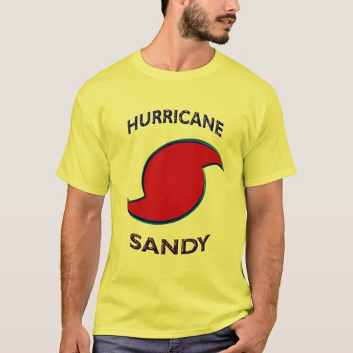 Símbolo de Sandy del huracán Playera