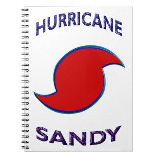 Símbolo de Sandy del huracán Spiral Notebooks