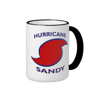 Símbolo de Sandy del huracán Tazas