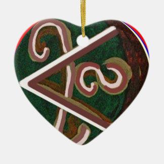 Símbolo de SHANTI: para los amantes de la paz Adorno De Cerámica En Forma De Corazón