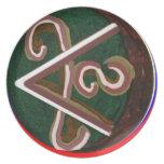Símbolo de SHANTI: para los amantes de la paz Platos Para Fiestas