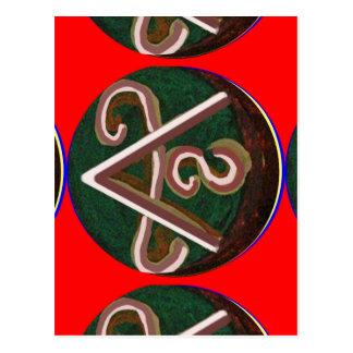 Símbolo de SHANTI: para los amantes de la paz Postal