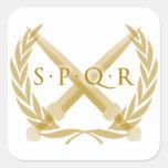 Símbolo de SPQR Pegatinas Cuadradases