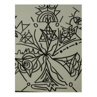 Símbolo de Starseed de la familia de la estrella Tarjetas Postales
