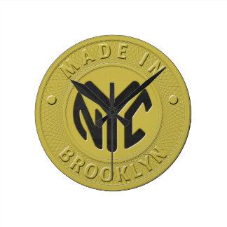 Símbolo de subterráneo de Brooklyn Reloj Redondo Mediano
