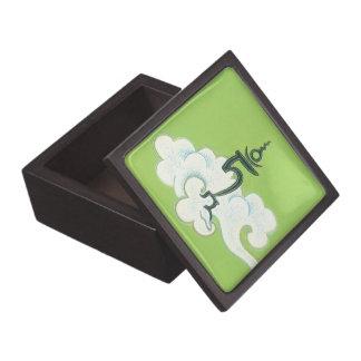 Símbolo de Tara del verde de la CAJA DE MADERA: la Caja De Recuerdo De Calidad
