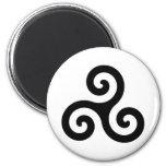 Símbolo de Triskelion del Celtic Imanes