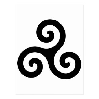 Símbolo de Triskelion del Celtic Tarjetas Postales