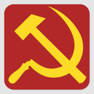 Símbolo de Unión Soviética - СоветскийСоюзСимвол Pegatina Cuadrada