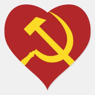Símbolo de Unión Soviética - СоветскийСоюзСимвол Pegatina En Forma De Corazón