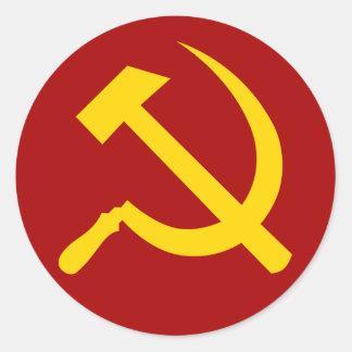 Símbolo de Unión Soviética - СоветскийСоюзСимвол Pegatina Redonda
