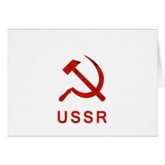 Símbolo de URSS Tarjeta De Felicitación