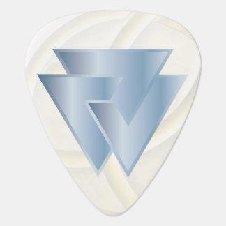 Símbolo de Valknut de los nórdises del azul de Plectro