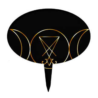 Símbolo de Wiccan, diosa triple Decoración Para Tarta