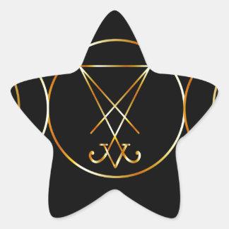 Símbolo de Wiccan, diosa triple Pegatina En Forma De Estrella