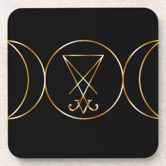 Símbolo de Wiccan, diosa triple Posavaso