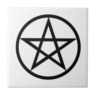 Símbolo de Wiccan (pentáculo) Azulejo Cuadrado Pequeño