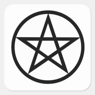 Símbolo de Wiccan (pentáculo) Pegatina Cuadrada