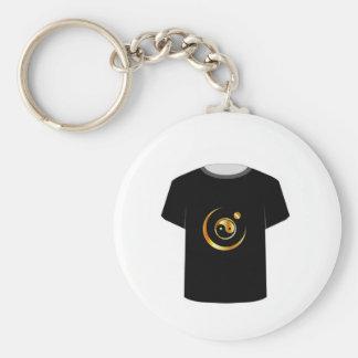 Símbolo de yang del yin de la plantilla de la llavero redondo tipo pin