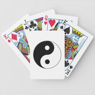 Símbolo de Yin/de Yang Barajas De Cartas