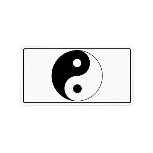 Símbolo de Yin/de Yang Etiquetas De Dirección