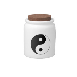 Símbolo de Yin/de Yang Platos Para Caramelos