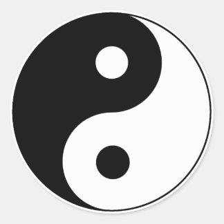 Símbolo de Yin/de Yang Etiquetas Redondas