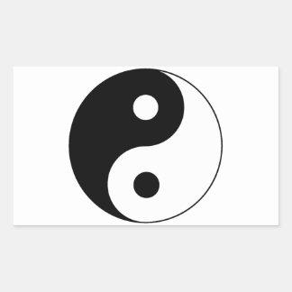 Símbolo de Yin/de Yang Rectangular Altavoces
