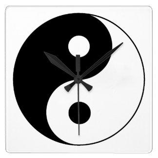 Símbolo de Yin/de Yang Relojes De Pared