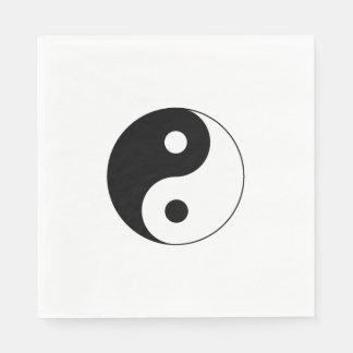 Símbolo de Yin/de Yang Servilleta De Papel