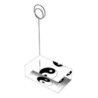 Símbolo de Yin/de Yang Soporte De Tarjeta De Mesa