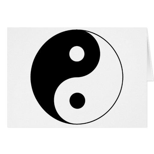 Símbolo de Yin/de Yang Tarjeta De Felicitación