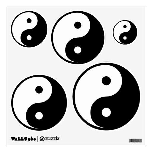 Símbolo de Yin y de Yang Vinilo