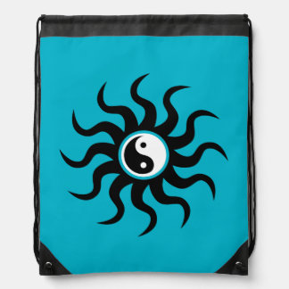 Símbolo de Yin-Yang/blanco y negro aztecas Mochilas