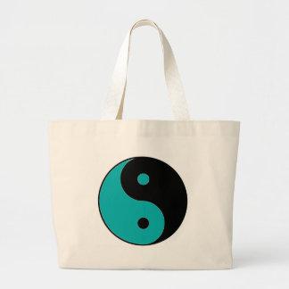 Símbolo de YIN YANG Bolsa Tela Grande