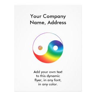 Símbolo de Yin Yang del arco iris Tarjeton
