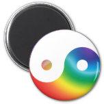 Símbolo de Yin Yang del arco iris Imán De Frigorifico