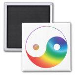 Símbolo de Yin Yang del arco iris Imanes Para Frigoríficos