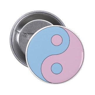 Símbolo de Yin Yang del transexual Pin Redondo De 2 Pulgadas