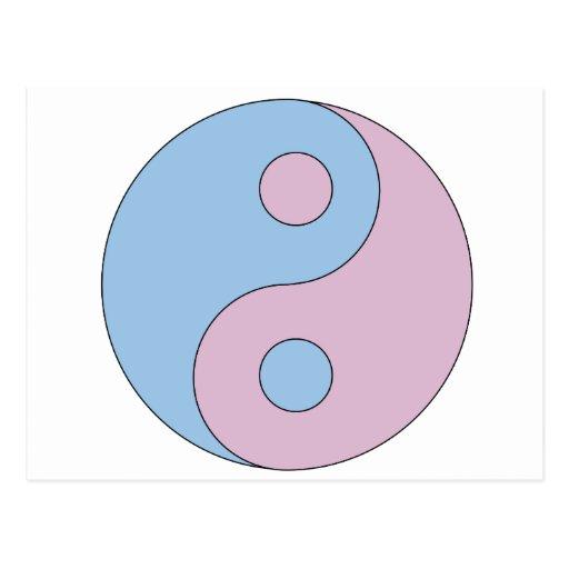 Símbolo de Yin Yang del transexual Postales