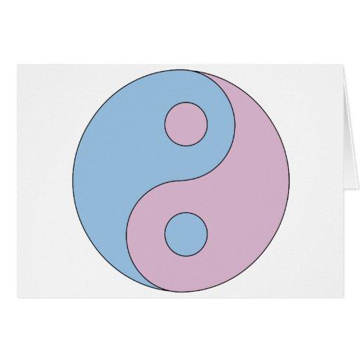 Símbolo de Yin Yang del transexual Tarjeta