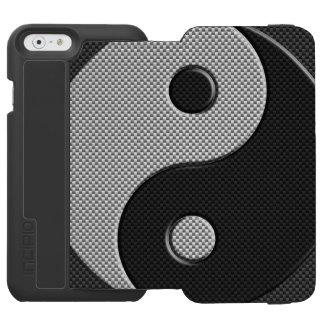 Símbolo de Yin Yang en estilo de la fibra de Funda Billetera Para iPhone 6 Watson