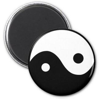 Símbolo de Yin Yang Imán Redondo 5 Cm