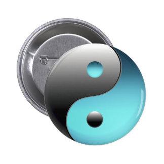 Símbolo de Yin Yang - muestra de Ying Yang Pin Redondo De 2 Pulgadas