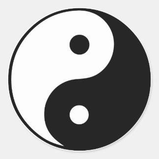 Símbolo de Yin Yang: Pegatina Redonda