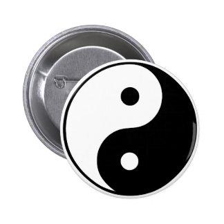 Símbolo de Yin Yang: Pin Redondo De 2 Pulgadas